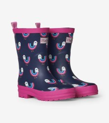 Rain Boots Rainbow Birds 9
