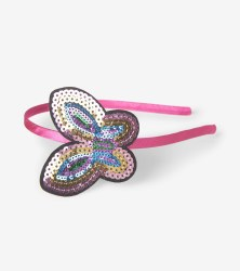 Sequined Butterfly Headband