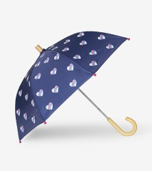 Umbrella Striped Hearts