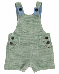 Green Shortie Overalls 6-12m