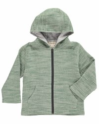 Hoodie Green Woven 12-18m