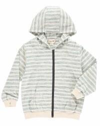Hoodie Green Stripe 3-4y