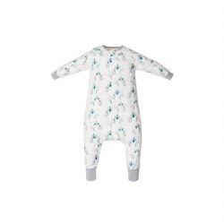 Bamboo Sleep Suit Peacock Smal