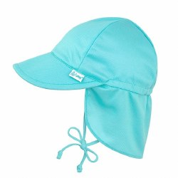 Breatheasy Flap Hat Aqua 0-6m