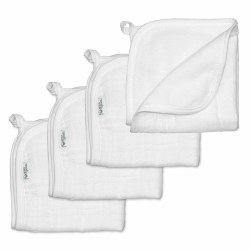 Muslin Washcloths White