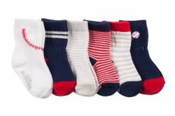 Socks Batter Up 6pk 6-12m
