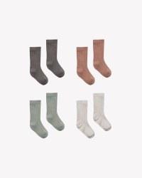 Baby Socks 4pk Coal 0-6m