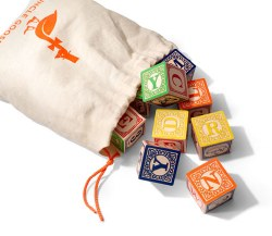 Classic ABC Blocks with Bag