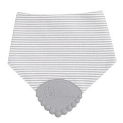 Cotton Drool Bib Grey Stripe