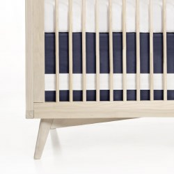 Crib Skirt Indigo