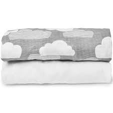 Travel Crib Fitted Sheet 2 pk