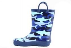 Rain Boots Blue Sharks 5