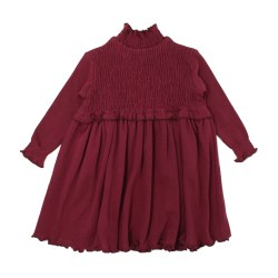 Smocked Dress Cranberry 12-18m