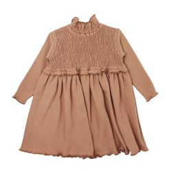 Smocked Dress Nutmeg 3T