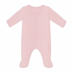 Pink Pointelle Footie 0-3m