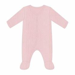 Pink Pointelle Footie 0-3m