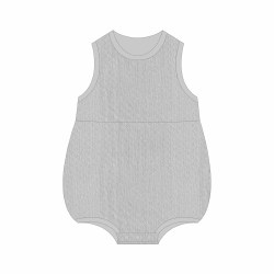 Grey Pointelle Bubble 9-12m