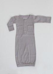 Gown Preemie Light Gray