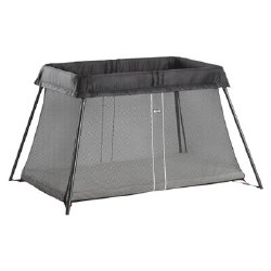 Travel Crib Light Black Mesh