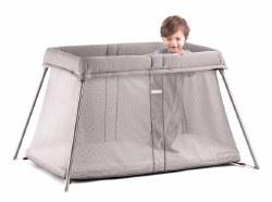 Travel Crib Easy Go Greige Mesh