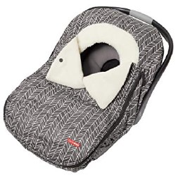 Car Seat Cover Grey Feather