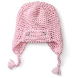Kids Trapper Hat Pink 3T
