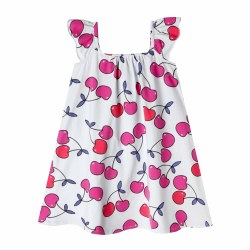 Mini Lana Dress Cherries 12m