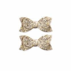 2pk Clips Gold Confetti