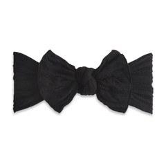 Cable Knit Knot Headband Black