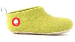 Gus Wool Slipper Lime 25