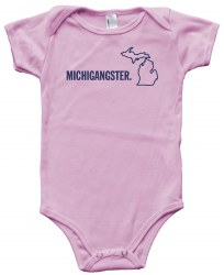Michigangster Onesie Pink 3-6m