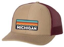 Michigan Trucker Hat Khaki