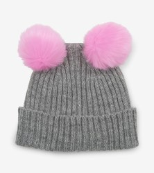 Pom Pom Ears Hat Small