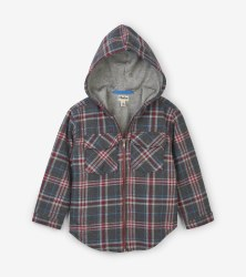 Grey Plaid Full Zip Hoodie 7