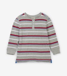 Crimson Stripe Henley 5
