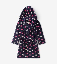 Fleece Robe Hearts Medium