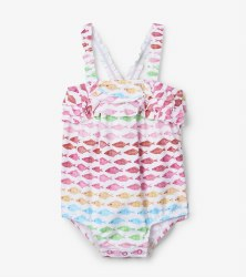 Ruffle Swimsuit Fishies 3-6m