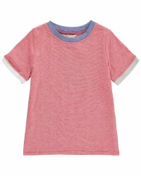 Red Micro Stripe T-Shirt 12-1