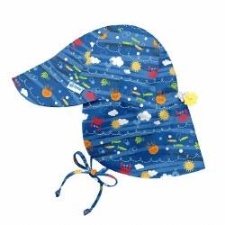 Flap Sun Hat Royal Sea 9-18m