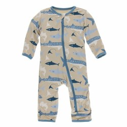 Coverall Burlap Sharks 0-3m