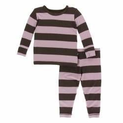 L/S PJ Set Flora Stripe 6