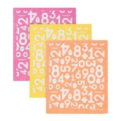 Sponge Cloth 3pk Orange Yellow