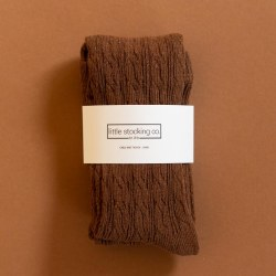 Cable Knit Tights Chocolate 0-