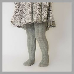Cable Knit Tights Grey 0-6m