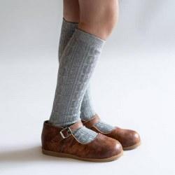 Knee High Grey Knit 0-6m