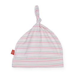 Hat Pink Stripe NB