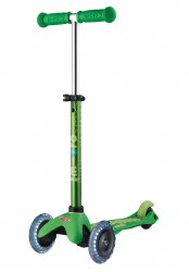 Mini Deluxe LED Scooter Green
