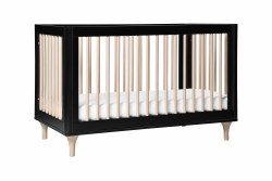 Lolly 3-in-1 Convertible Crib Black/Natural