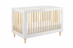 Lolly 3-in-1 Convertible Crib White/Natural