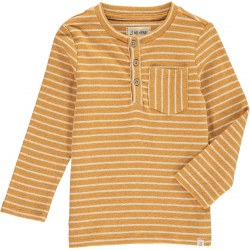 Gold Stripe Henley Tee 14